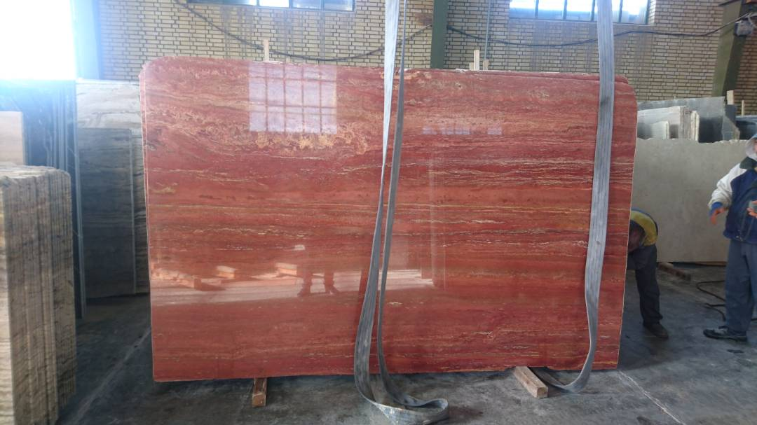 stock marmol TRAVERTINO ROJO